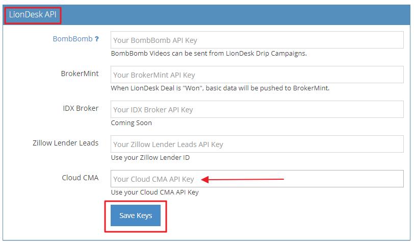 Cloud CMA – LionDesk Help Center